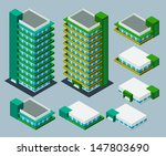 separated isometric building... | Shutterstock .eps vector #147803690