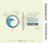 international day of disaster... | Shutterstock .eps vector #1478049890