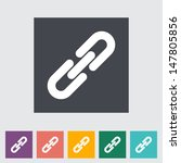 link single flat icon. vector... | Shutterstock .eps vector #147805856
