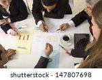 businesspeople working together ... | Shutterstock . vector #147807698