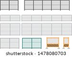 several types of wire mesh... | Shutterstock .eps vector #1478080703