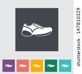 Shoes Flat Icon. Vector...