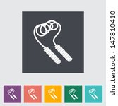 skipping rope flat icon. vector ...