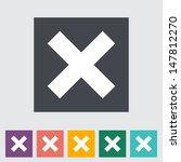 delete button. single flat icon.... | Shutterstock .eps vector #147812270