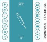 medical syringe icon. graphic... | Shutterstock .eps vector #1478131256