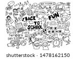 doodle back to school vector... | Shutterstock .eps vector #1478162150