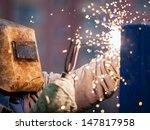 heavy industry welder worker in ... | Shutterstock . vector #147817958