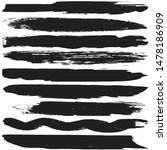 vector dry brush stroke grunge. ... | Shutterstock .eps vector #1478186909