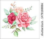beautiful watercolor flowers... | Shutterstock . vector #1478188886