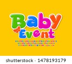vector colorful emblem baby... | Shutterstock .eps vector #1478193179