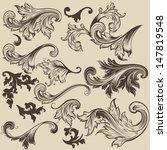vector set of calligraphic... | Shutterstock .eps vector #147819548