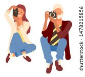 smiling photographers man and... | Shutterstock .eps vector #1478215856