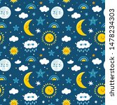 vector seamless pattern with... | Shutterstock .eps vector #1478234303