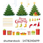 christmas set with decorative... | Shutterstock .eps vector #1478240699