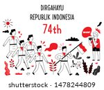 indonesian independence day... | Shutterstock .eps vector #1478244809