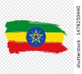ethiopia flag isolated. flag of ...
