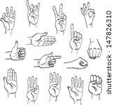 gestures | Shutterstock .eps vector #147826310