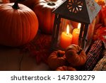 lantern with burning candles... | Shutterstock . vector #147830279
