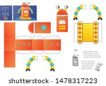 cut and glue robot toy vector... | Shutterstock .eps vector #1478317223