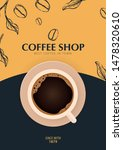 cup of coffee. sketch banner... | Shutterstock .eps vector #1478320610