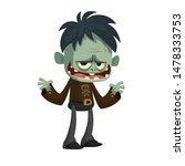 Cartoon Funny Green Zombie....