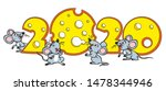 funny christmas rat. template...   Shutterstock .eps vector #1478344946