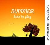 poster summer landscape style ...   Shutterstock .eps vector #147835148