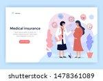 medical insurance for pregnancy ... | Shutterstock .eps vector #1478361089