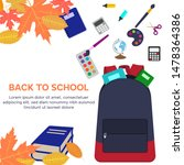back to school web banner with... | Shutterstock .eps vector #1478364386