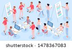 flat design isometric vector...   Shutterstock .eps vector #1478367083