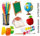 school objects set. collection...   Shutterstock .eps vector #1478367089