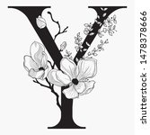 vector hand drawn floral...   Shutterstock .eps vector #1478378666