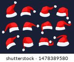 santa clause hats icons set... | Shutterstock .eps vector #1478389580