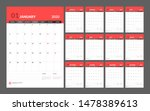 wall calendar for 2020 year in... | Shutterstock .eps vector #1478389613