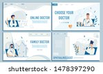 flat landing page set offering... | Shutterstock .eps vector #1478397290