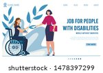 flat landing page offer job for ... | Shutterstock .eps vector #1478397299
