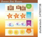 summer sales banners  vector... | Shutterstock .eps vector #147839738