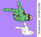 pointing finger.zombie hand... | Shutterstock .eps vector #1478411306
