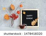 Happy Sunday Text On Black...