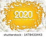 happy new 2020 year. cold... | Shutterstock .eps vector #1478433443