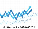 abstract financial chart with... | Shutterstock .eps vector #1478445209