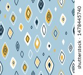 vector seamless pattern in... | Shutterstock .eps vector #1478445740