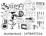 set of cutlery and elements for ... | Shutterstock .eps vector #1478447216