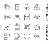 icons set of survey related... | Shutterstock .eps vector #1478474879
