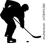 silhouette of hockey player on... | Shutterstock .eps vector #1478491280