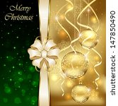 christmas background with three ... | Shutterstock . vector #147850490
