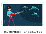 virtual reality gaming flat... | Shutterstock .eps vector #1478517536