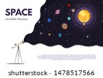 space exploration flat banner...   Shutterstock .eps vector #1478517566