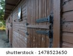 stables wooden  barn for horses  - stock photo