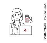 telehealth  telemedicine ...   Shutterstock .eps vector #1478523866